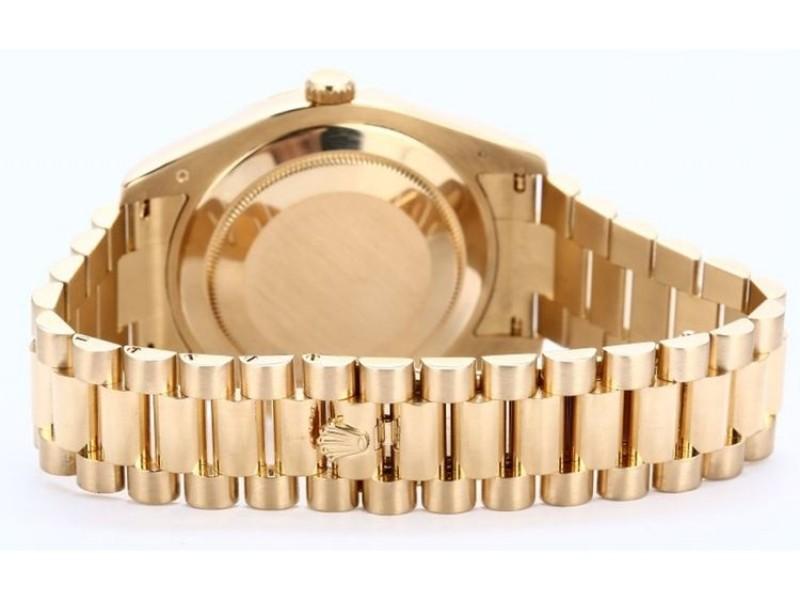 Rolex Day-Date President II 218238 41mm Custom Champagne Diamond Bezel