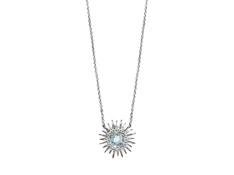 Anzie Sterling Silver Blue Topaz Necklace