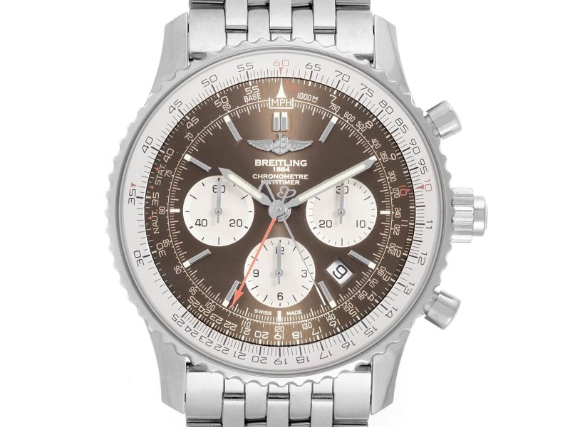Breitling Navitimer Rattrapante Chronograph Mens Watch AB0310