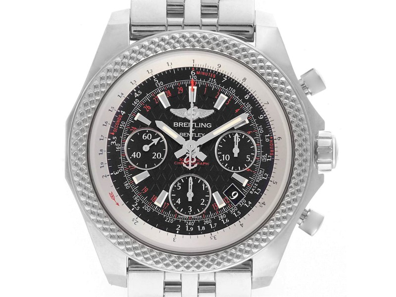 Breitling Bentley B06 Black Dial Chronograph Watch AB0612 Box Papers
