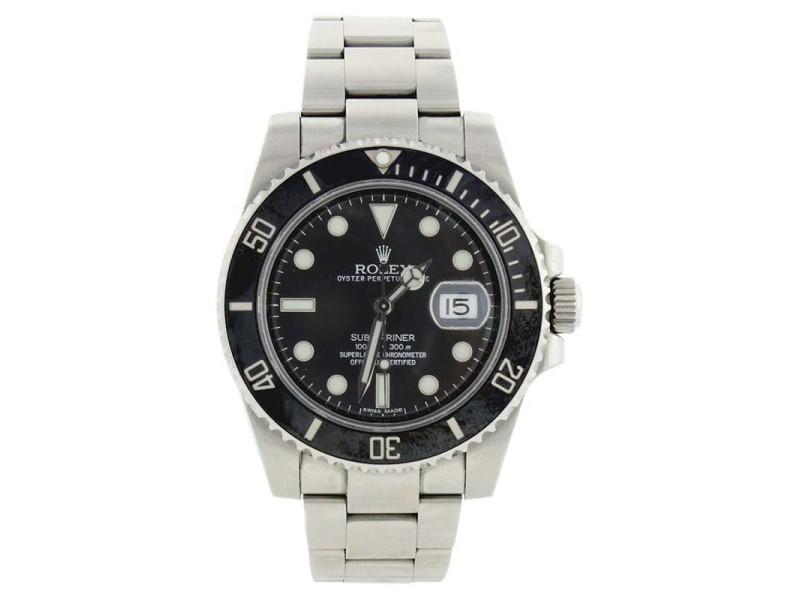Rolex Submariner 116610 Stainless Steel Black Dial Black Ceramic Bezel Watch