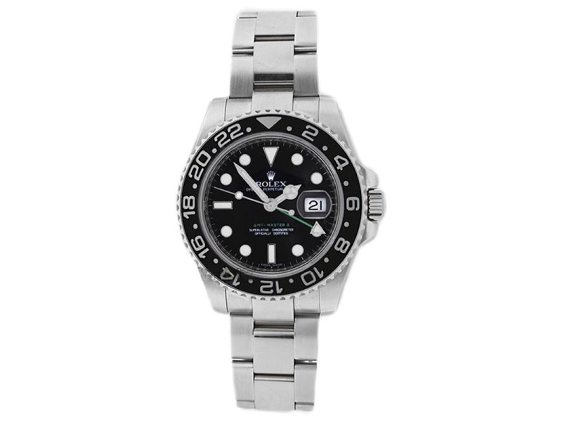 Rolex 116710 GMT Master ll Stainless Steel Black Dial Mens Watch