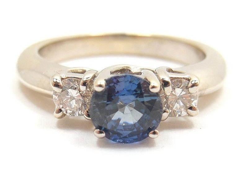 Levian 18K Gold Diamond Sapphire Ring