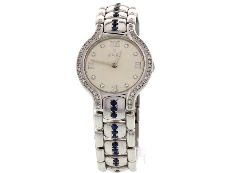 Ebel Beluga E9157421 Stainless Steel with Diamonds & Sapphires Womens Watch