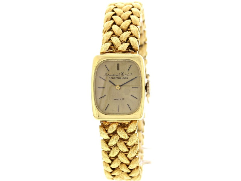 IWC Schaffhausen 18K Yellow Gold Womens Watch