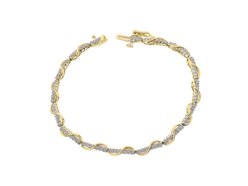 10K Yellow Gold and 0.75ct Diamond Bracelet
