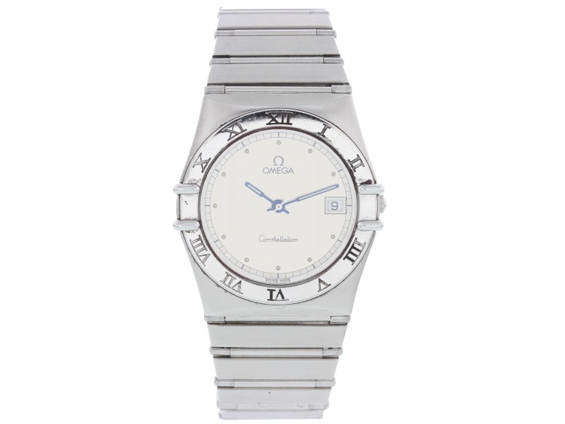 Omega Constellation 396.1070 Stainless Steel Silver Dial Quartz 33mm Mens Watch
