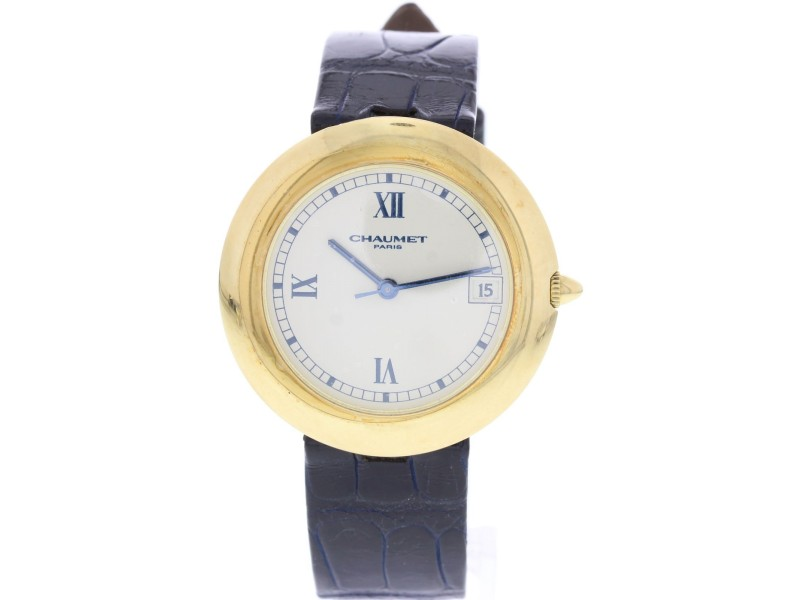 Chaumet Paris 13A-684 18K Yellow Gold Off-White Dial Automatic 36mm Unisex Watch