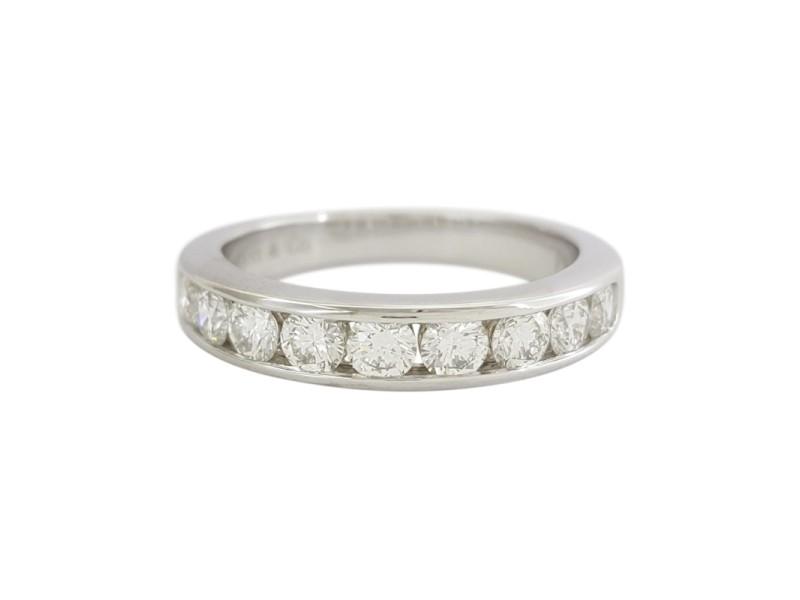 Tiffany & Co. Platinum Diamond Wedding Ring Size 6.5