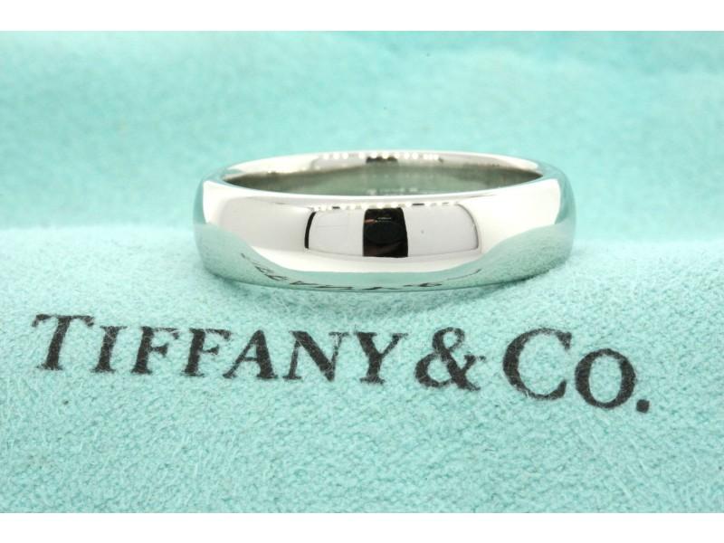 Tiffany & Co. Lucida Platinum Wedding Ring Size 9.5