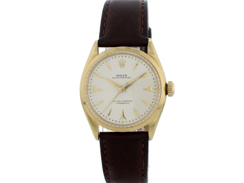 Rolex Oyster Perpetual 6564 Vintage 34mm Mens Watch