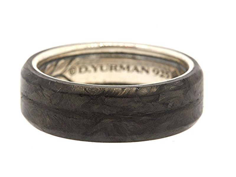 David Yurman Ring Band Sterling Silver Forged Carbon 6mm or 8mm Various Sizes