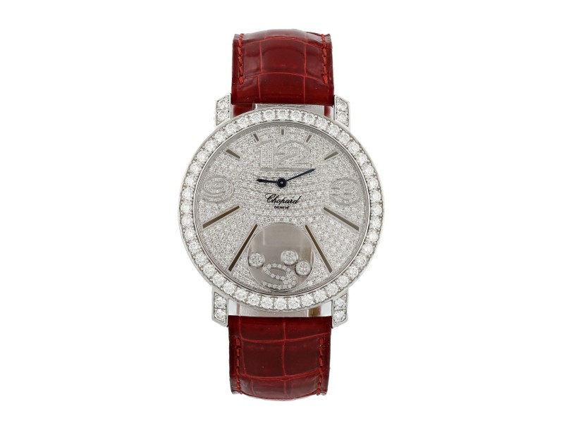 Chopard Happy Diamond 207450-20 Factory Pave Dial Original Box & Papers