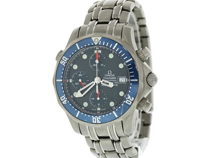 Omega Seamaster Chronograph 2298.80.00 Titanium Mens Watch