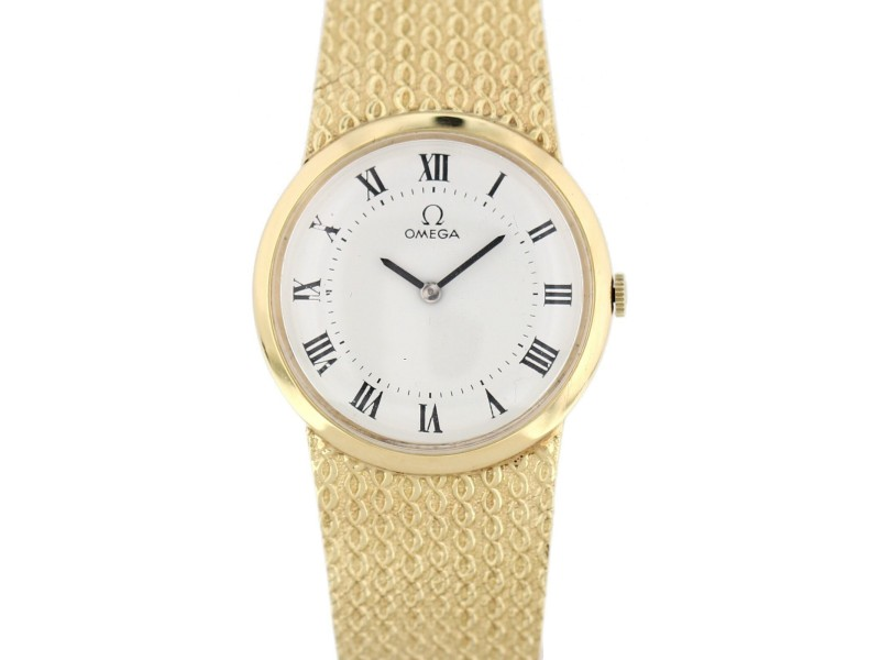 Omega 14K Yellow Gold Vintage Mechanical Watch