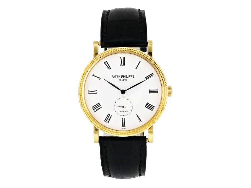 Patek Philippe Calatrava  5119J  Tiffany & Co. Dial Yellow gold Mens Watch