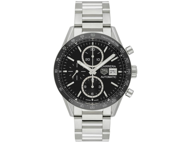 AMAZING TAG HEUER CARRERA CV201AJ.BA0727 CHRONOGRAPH AUTOMATIC LUXURY WATCH