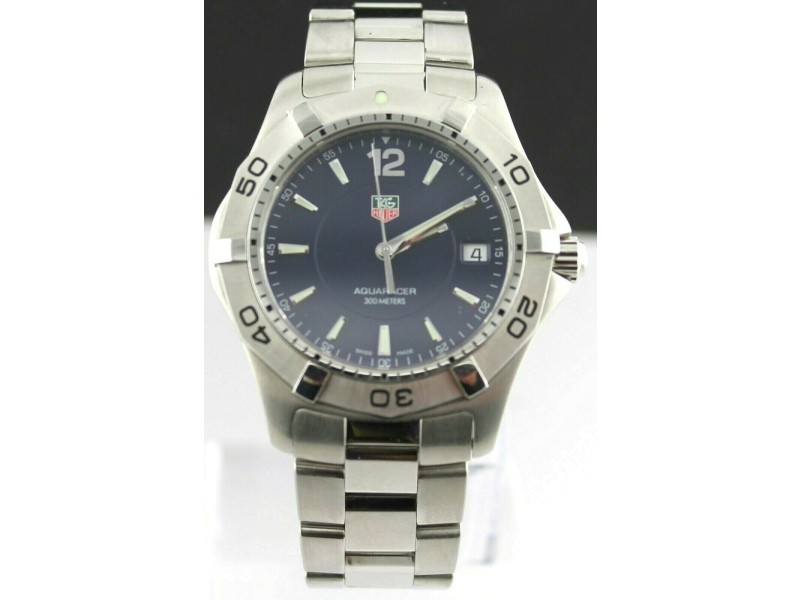 TAG HEUER AQUARACER WAF1113.BA0801 MENS BLUE SWISS QUARTZ DIVER PRESTIGE WATCH