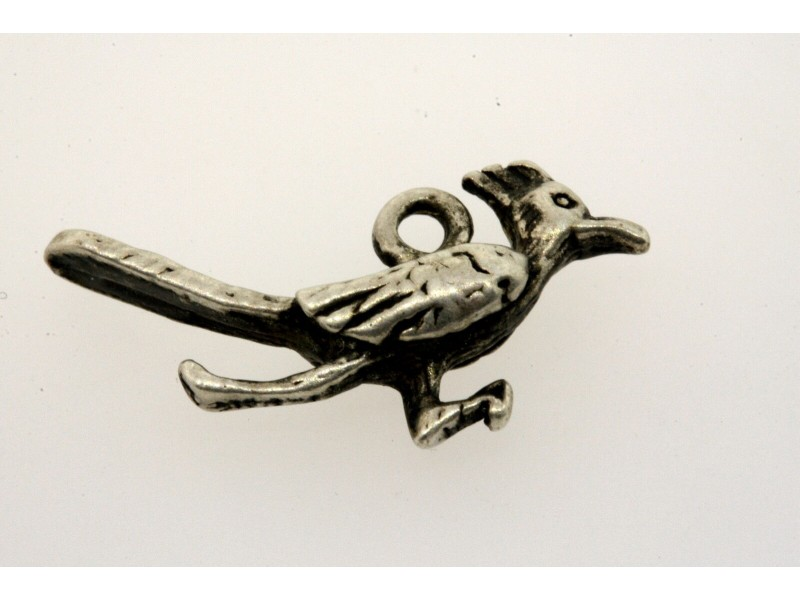 Vintage Sterling Silver Charm small 3D Road Runner Bird