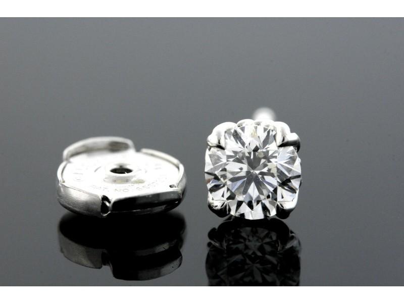 David Yurman SINGLE Diamond Earring Stud Platinum 1/2 .50ct Solitaire