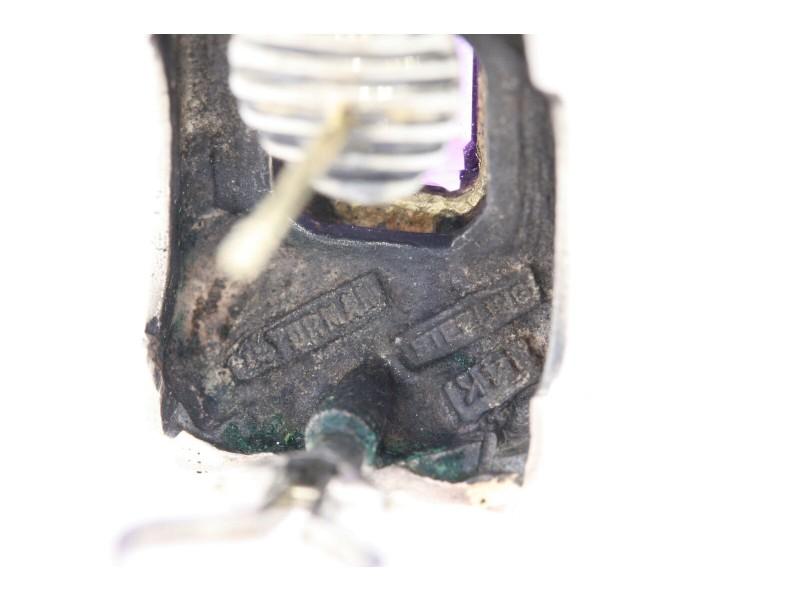 David Yurman Earrings Amethyst Cigar Band Cable Omega Back 14k Gold Sterling