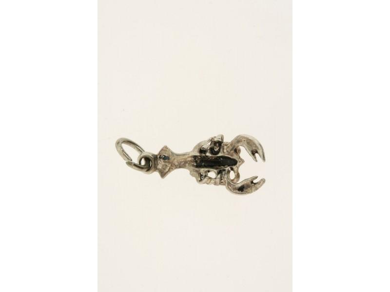 Vintage Sterling Silver Charm Lobster 3D