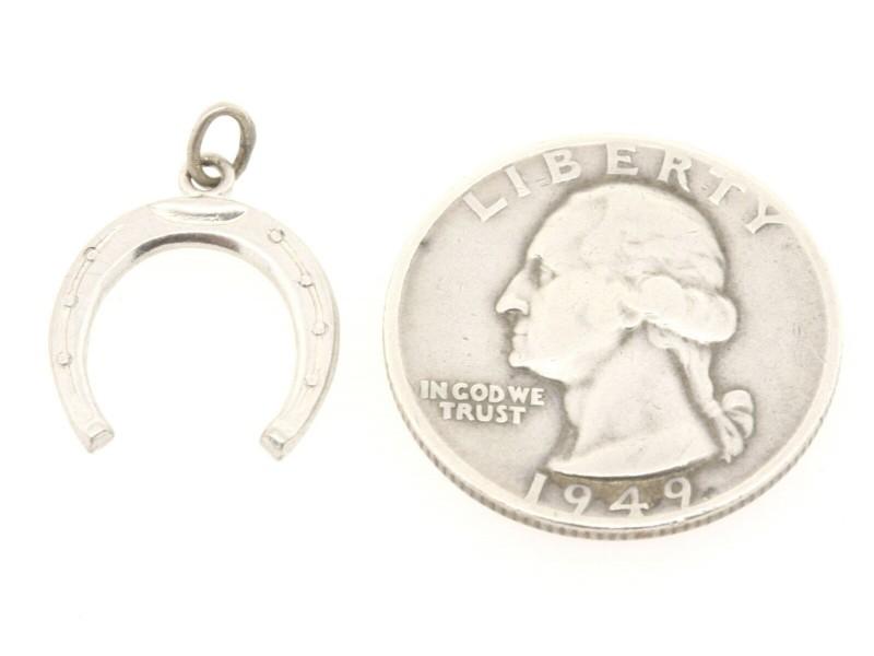 Vintage Sterling Silver Charm Horseshoe