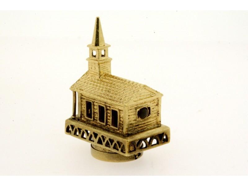Large Stanhope Church Charm Pendant Lord's Prayer Inside 14k Yellow Gold