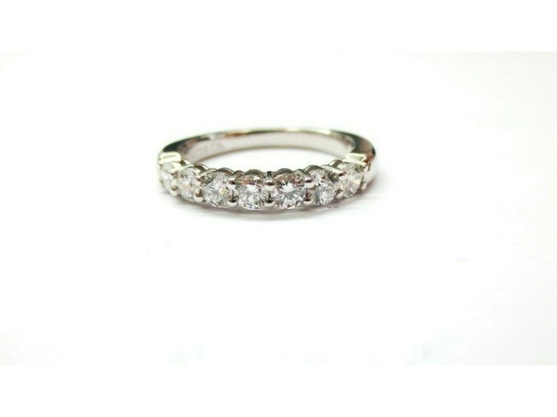$5,300 Tiffany & Co Embrace 0.57ct Round 7 Diamond Platinum Wedding Band Sz 5.5