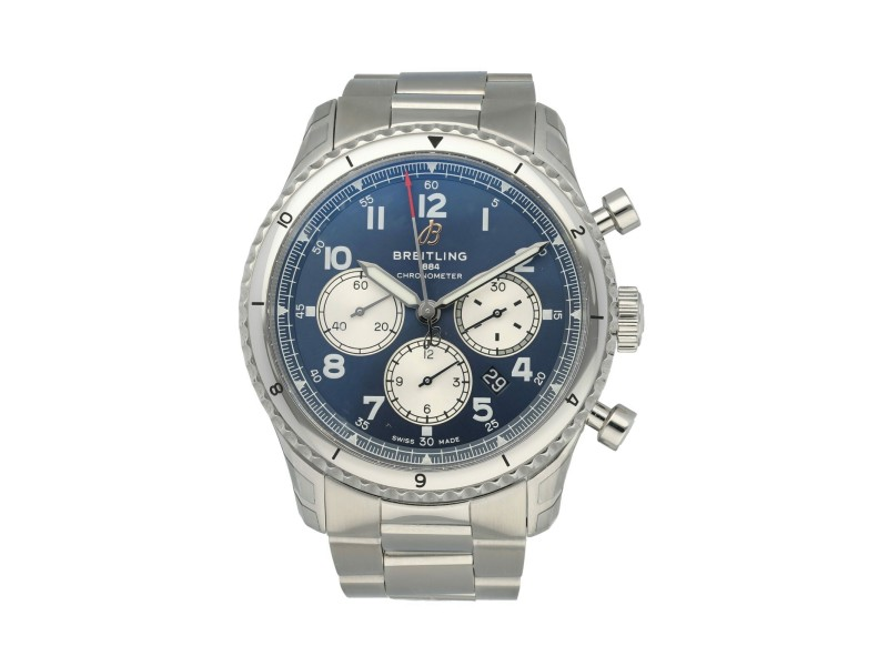 Breitling Aviator 8 B01 Chronograph AB0119 Men's Watch Box Papers