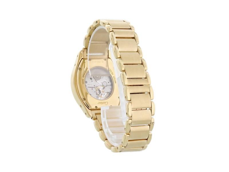 Cartier Tortue Paris 2496 18k Rose Gold Ladies Diamond Watch