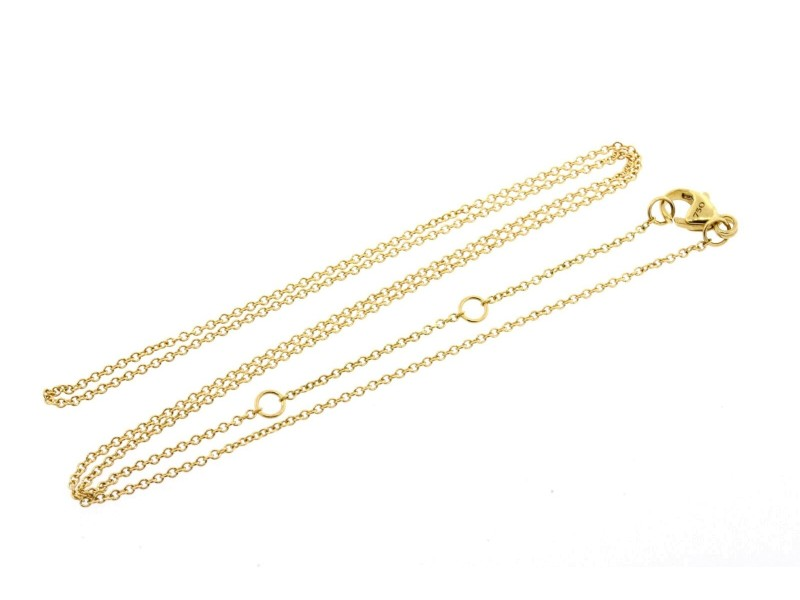 "David Yurman 18k Yellow Gold Necklace Chain Only 1.1mm 16"" 17"" 18"" Adjustable"