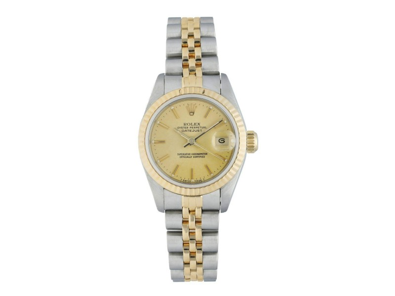 Rolex Datejust 69173 Tapestry Dial Ladies Watch