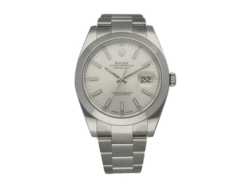 Rolex Datejust 126300 Stainless steel Men's Watch Box & Papers