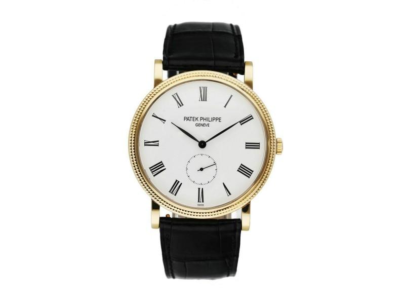 Patek Philippe Calatrava 5119J 18K Yellow gold Men's Watch Box & Papers