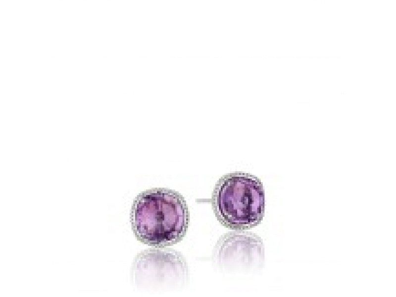Tacori Sterling Silver & Lavender Amethyst Stud Earrings