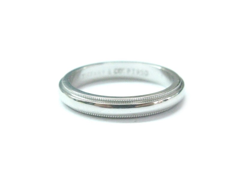 xf brush band ring finish milgrain bands chrome platinum cobalt wedding