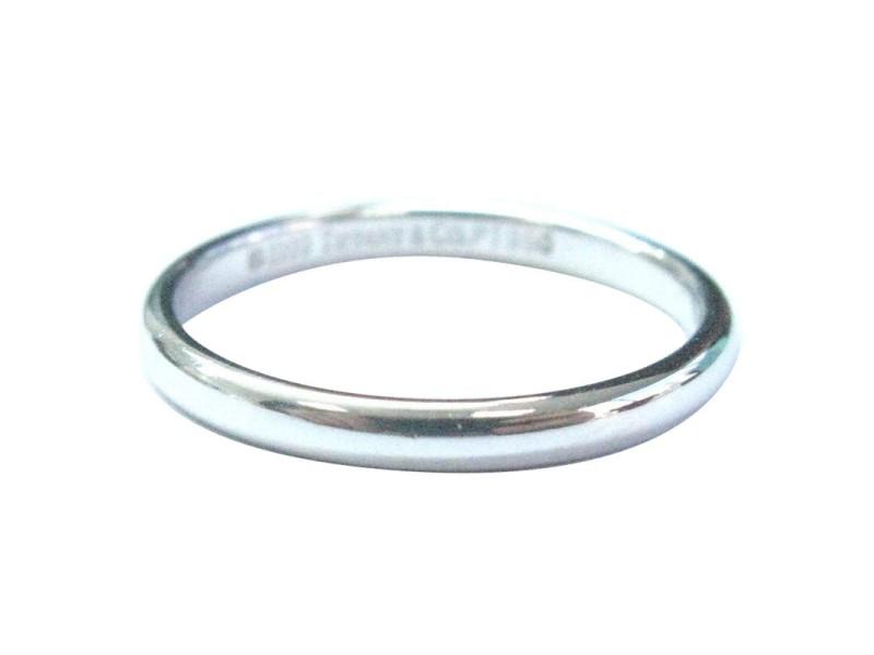 Tiffany & Co. PT950 Platinum Lucida Wedding Band Ring Size 5.25