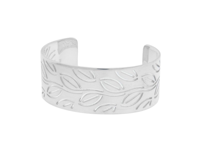 Enigma by Bulgari Sterling Silver Leaves Bangle