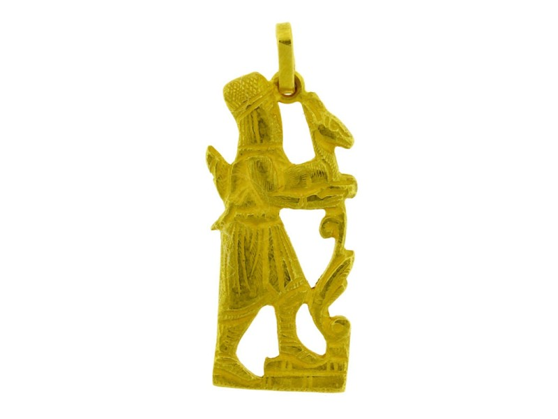 18K Yellow Gold Persian Hakhamaneshi Pendant