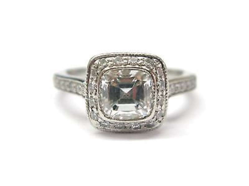 Tiffany & Co. PT950 Platinum with 1.44ct Diamond Ring Size 4.25