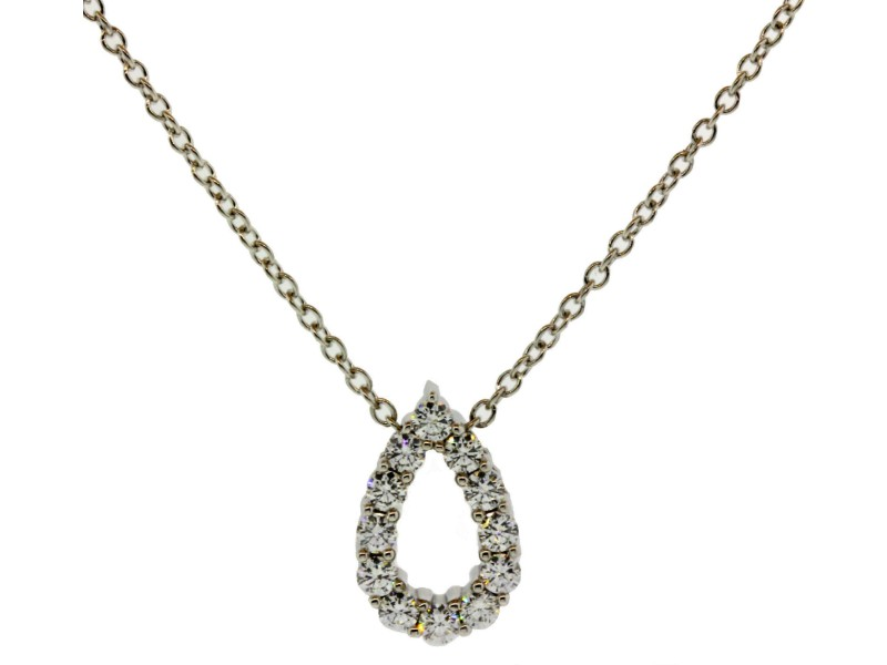 Hearts On Fire Whimsical Mini Pear Diamond 18K White Gold Necklace