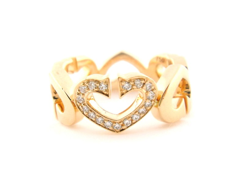 Cartier C Heart of Cartier Rose Gold & Diamond Ring