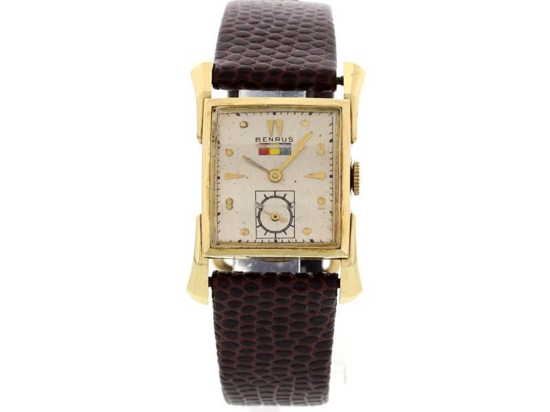 Benrus 14K Yellow Gold Men's Vintage Watch