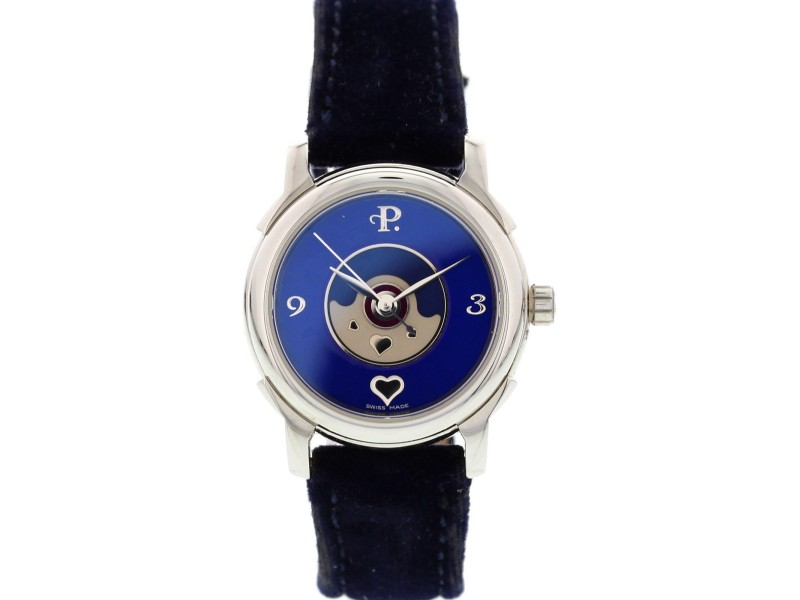 Perrelet Stainless Steel  Lady Coeur Blue Dial Automatic Ladies Watch