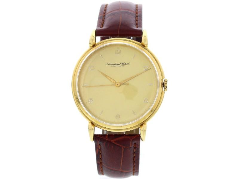 IWC Schaffhausen 18K Yellow Gold Men's Watch