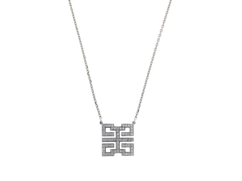 Cartier 18K White Gold Wishknot Diamond Necklace