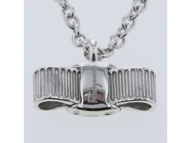 Salvatore Ferragamo 925 Silver Necklace TBRK-452