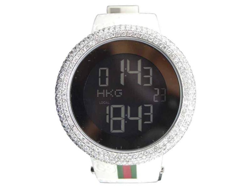 33ab60b85df Gucci YA114214 Stainless Steel Quartz 44mm Mens Watch