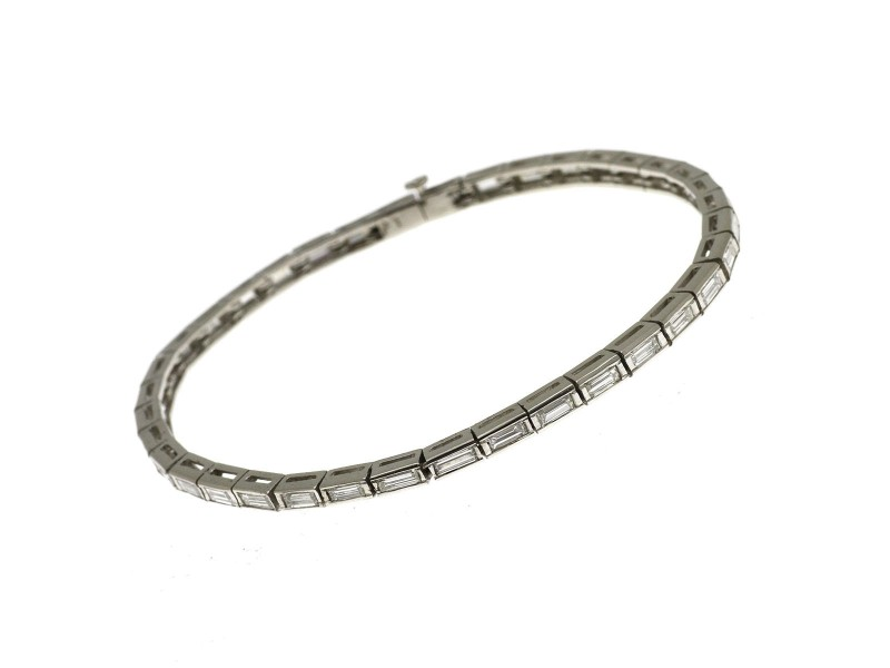 Platinum with 5.5ct Diamond Vintage Tennis Bracelet